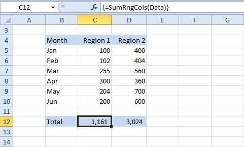 excel macro assign range to array